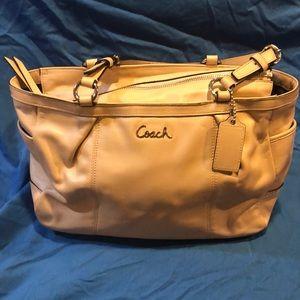 Coach cream leather purse